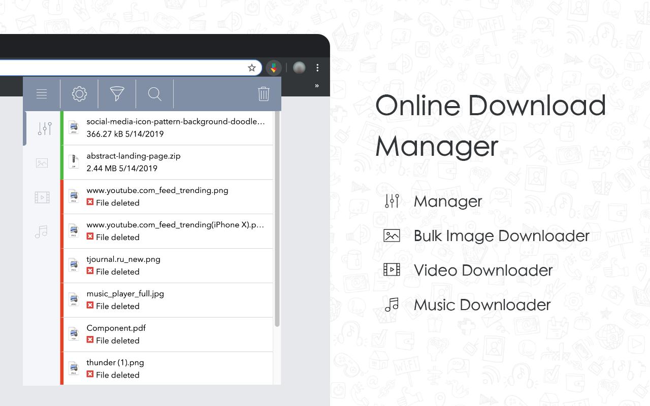 Chrome Online Менеджер загрузок